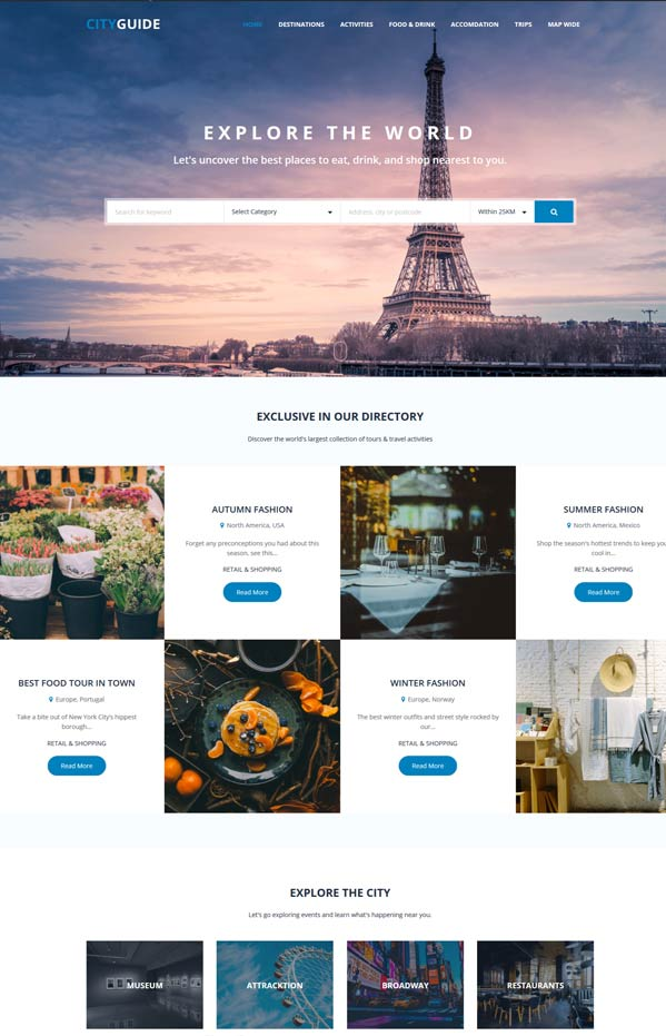 City Guide Joomla Directory template